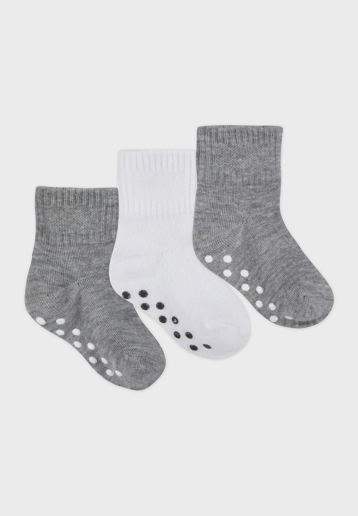 Infant 3 Pack Core Futura Gripper Socks