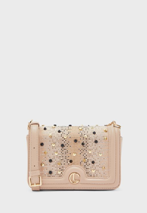 Embellished Flap Over Cross Body