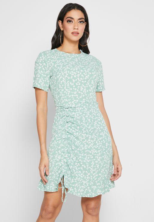 Ruched Side Tea Dress