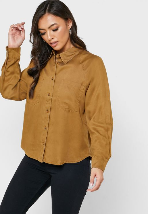 Pocket Detail Long Sleeve Shirt