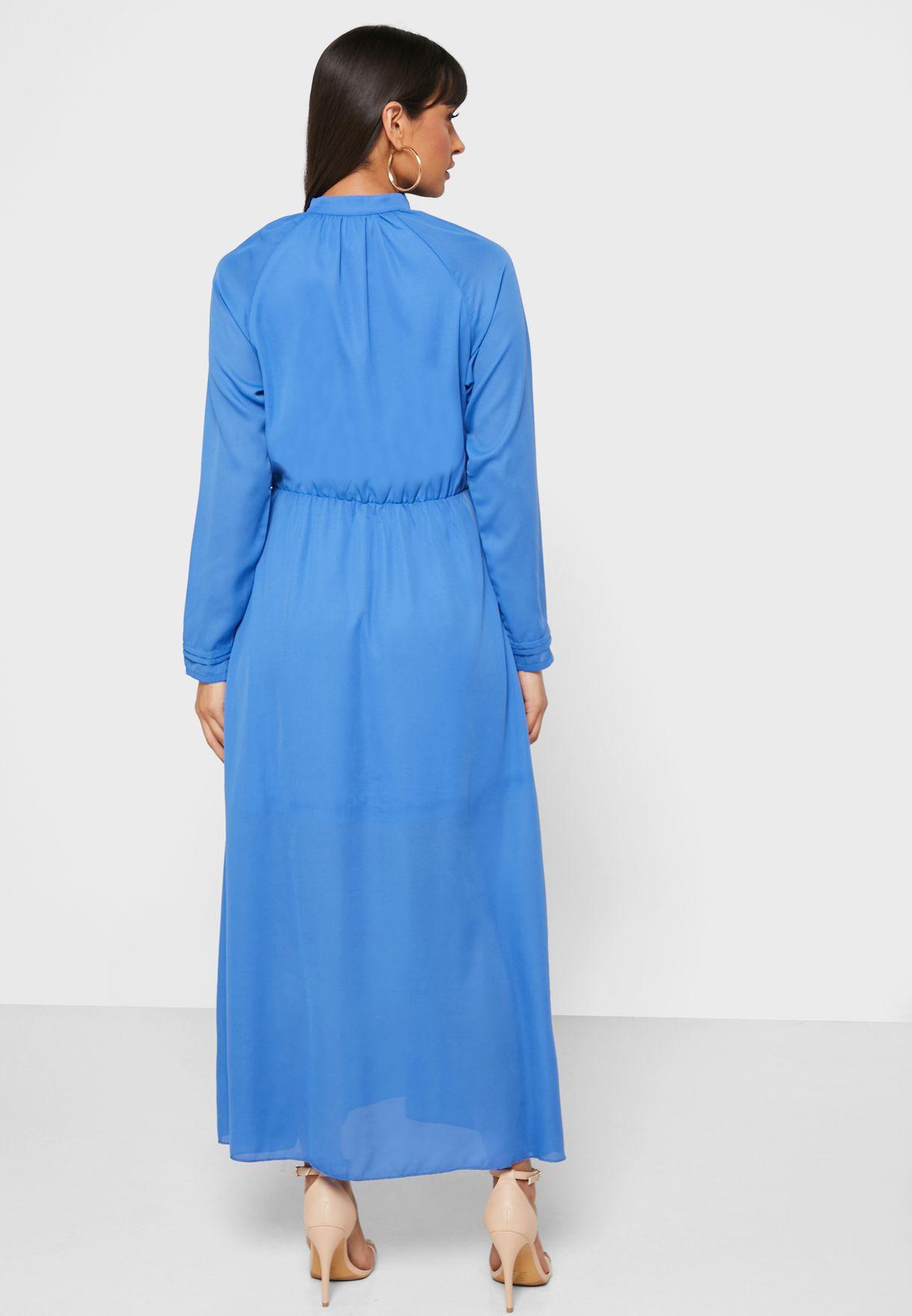 فستان ميدي بأكمام ريجلان