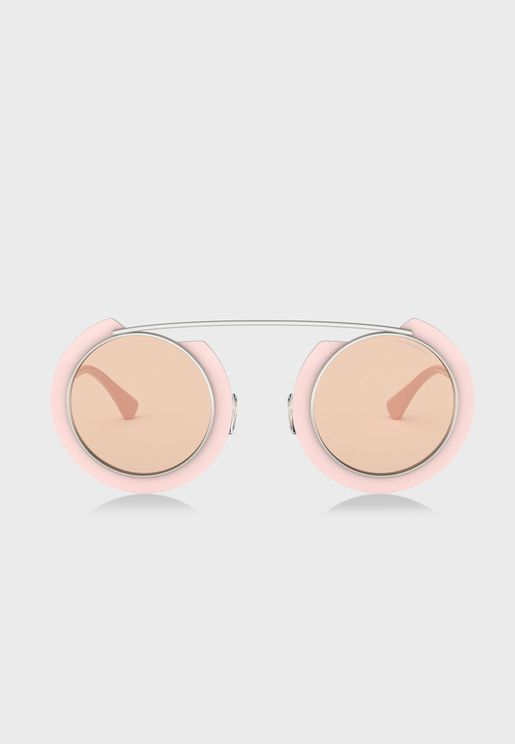 0EA2104 Round Sunglasses