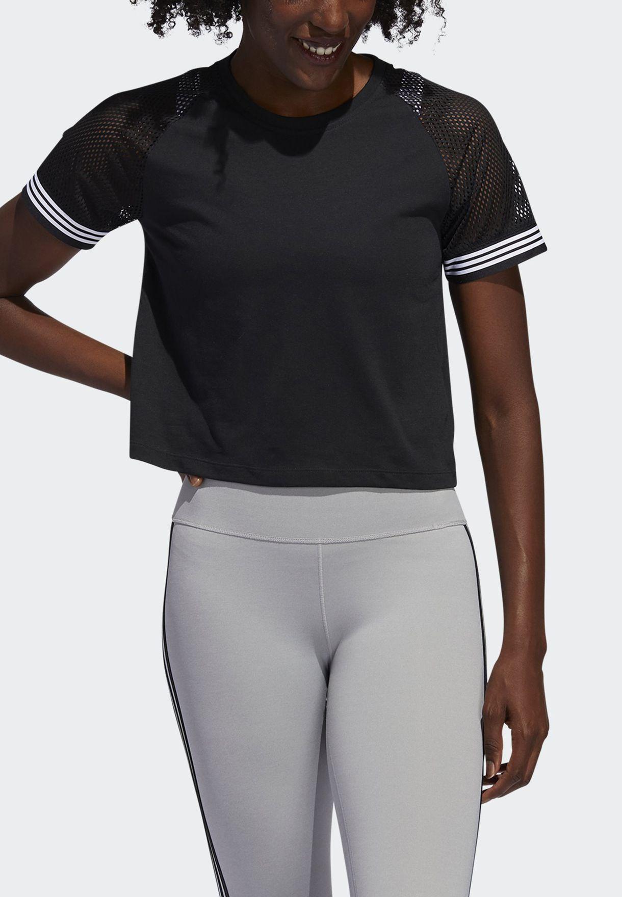 3 Stripe Ringer T-Shirt