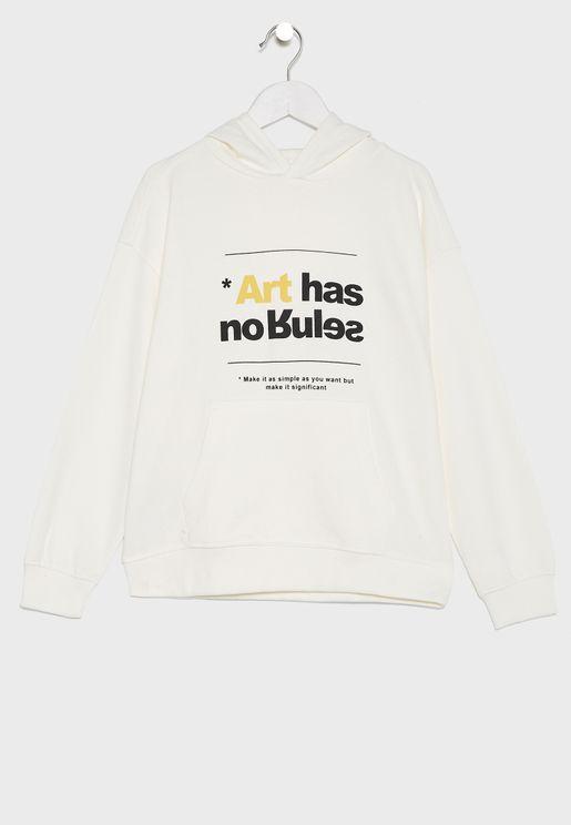 Kids Slogan Hoodie