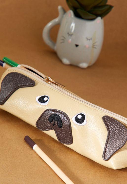 Pug Face Pencil Case