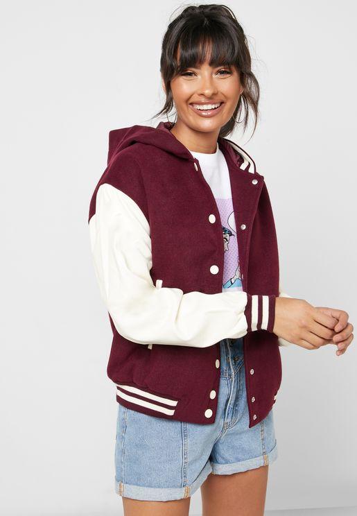 Colorblock Varsity Jacket