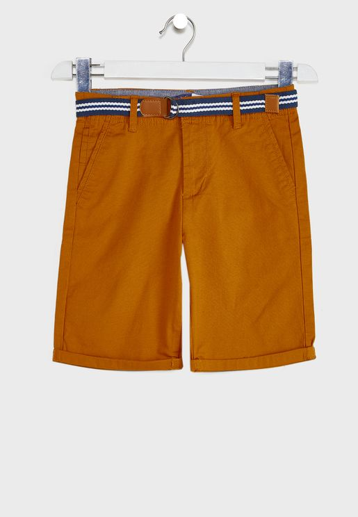 Youth Belted Chino Shorts