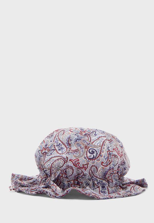 Kids Paisley Print Hat