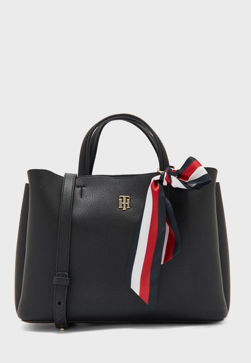 Charming Scarf Detail Tote
