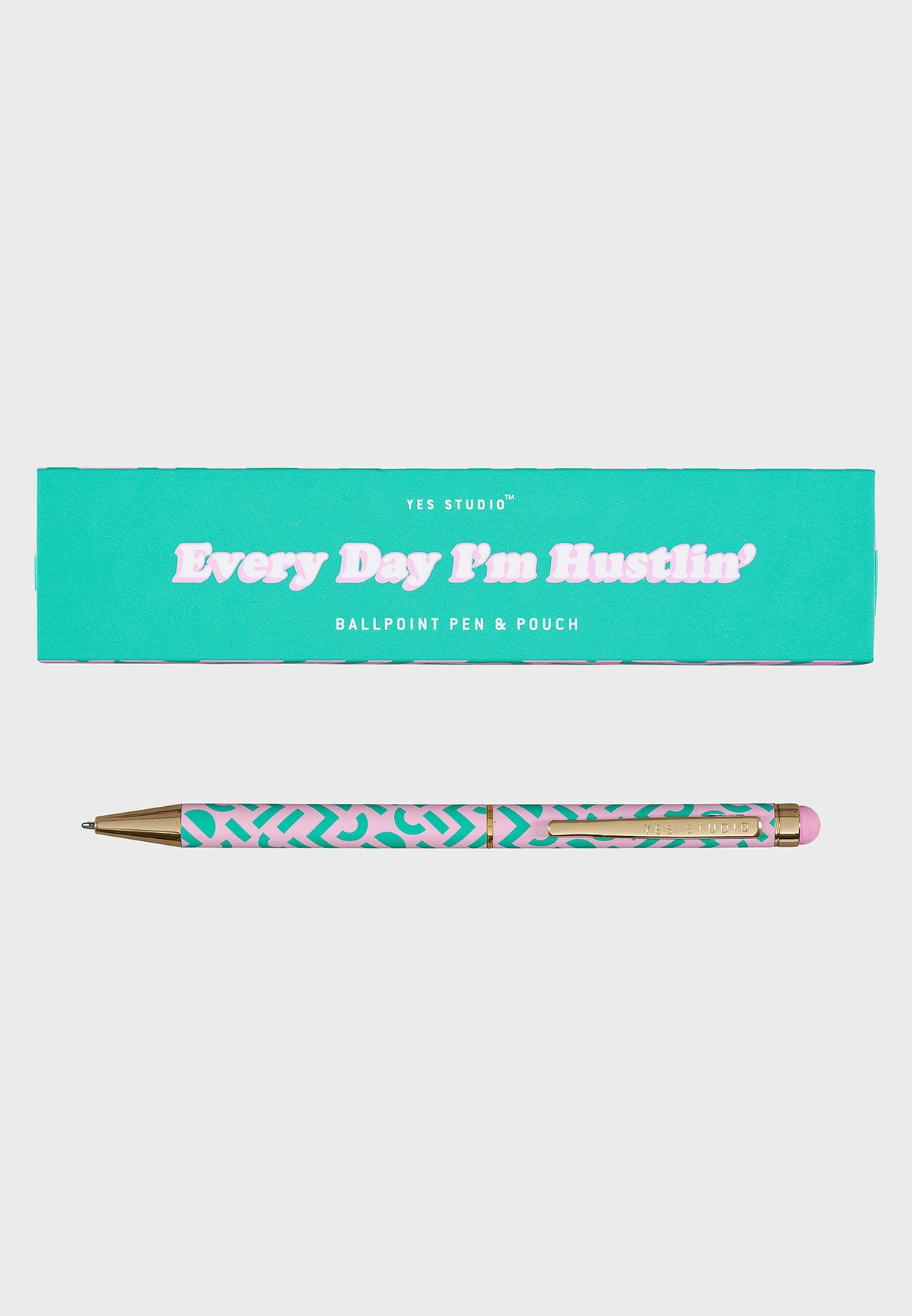 Every Day I'M Hustlin Pen With Case