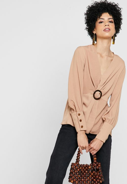Ring Detail Twisted Top