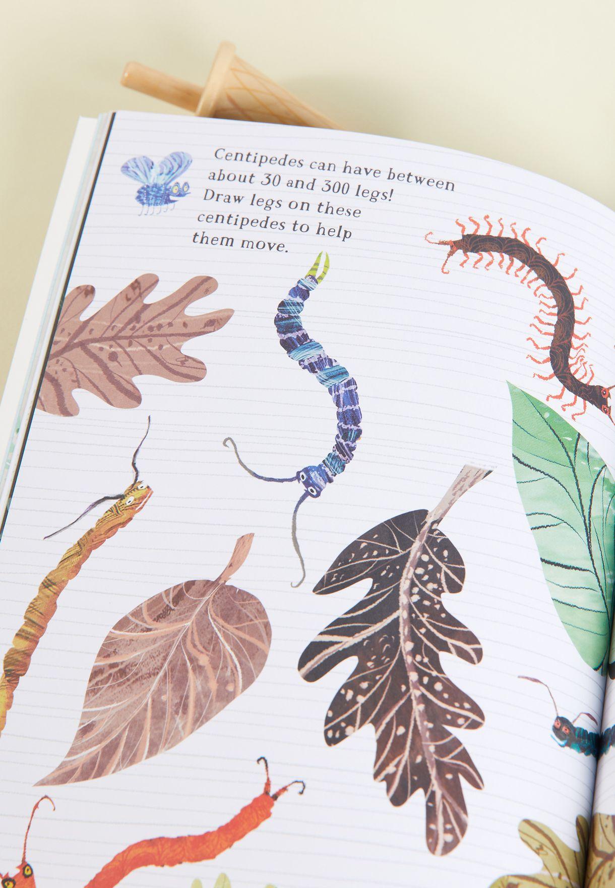 كتاب الملصقات الكبير من الحشرات