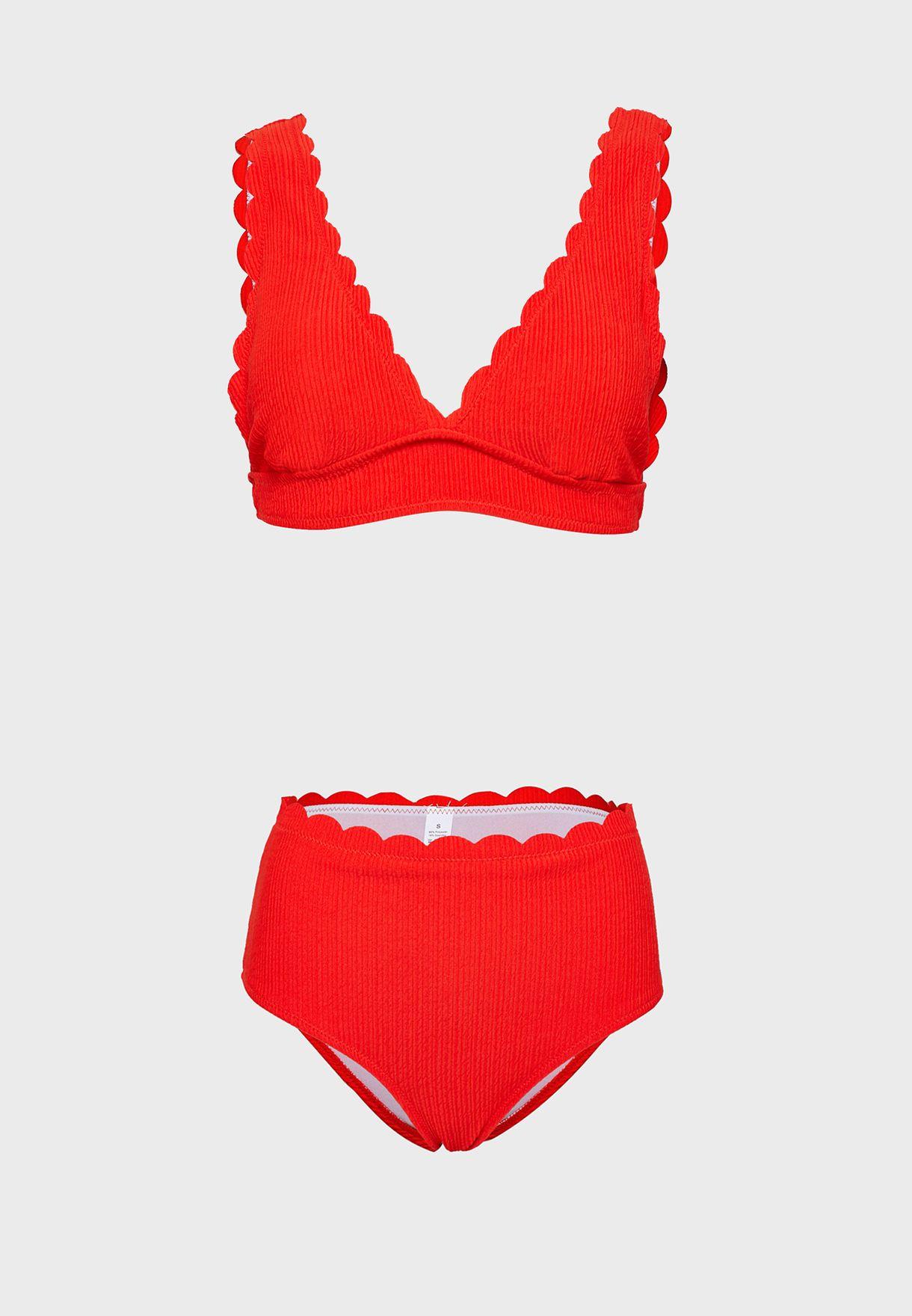 Scallop Trim Bikini Set