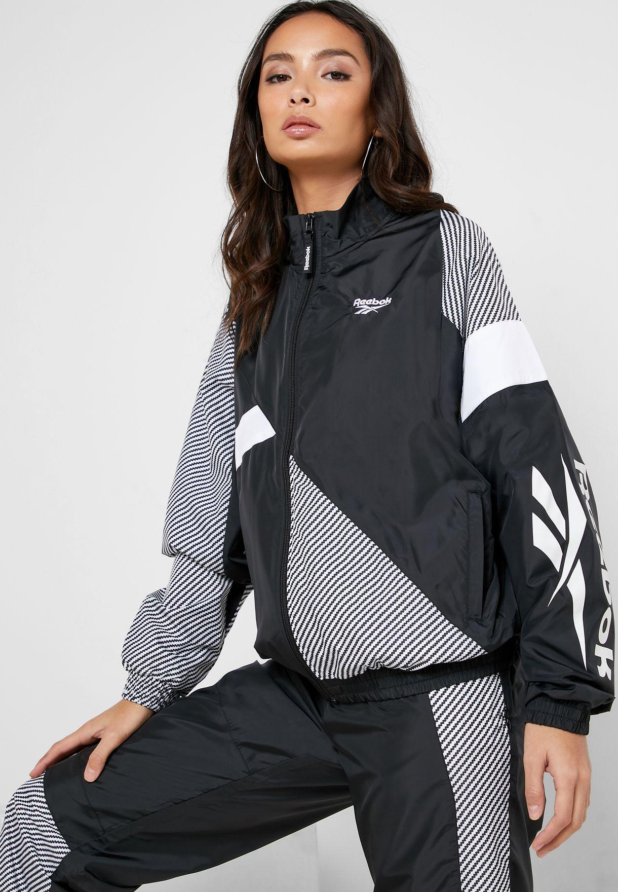 reebok track jacket women's
