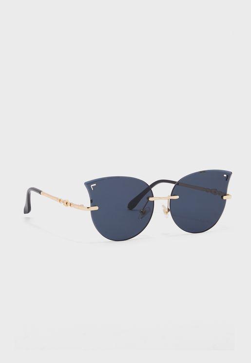 Arm Detail Catseye Sunglasses