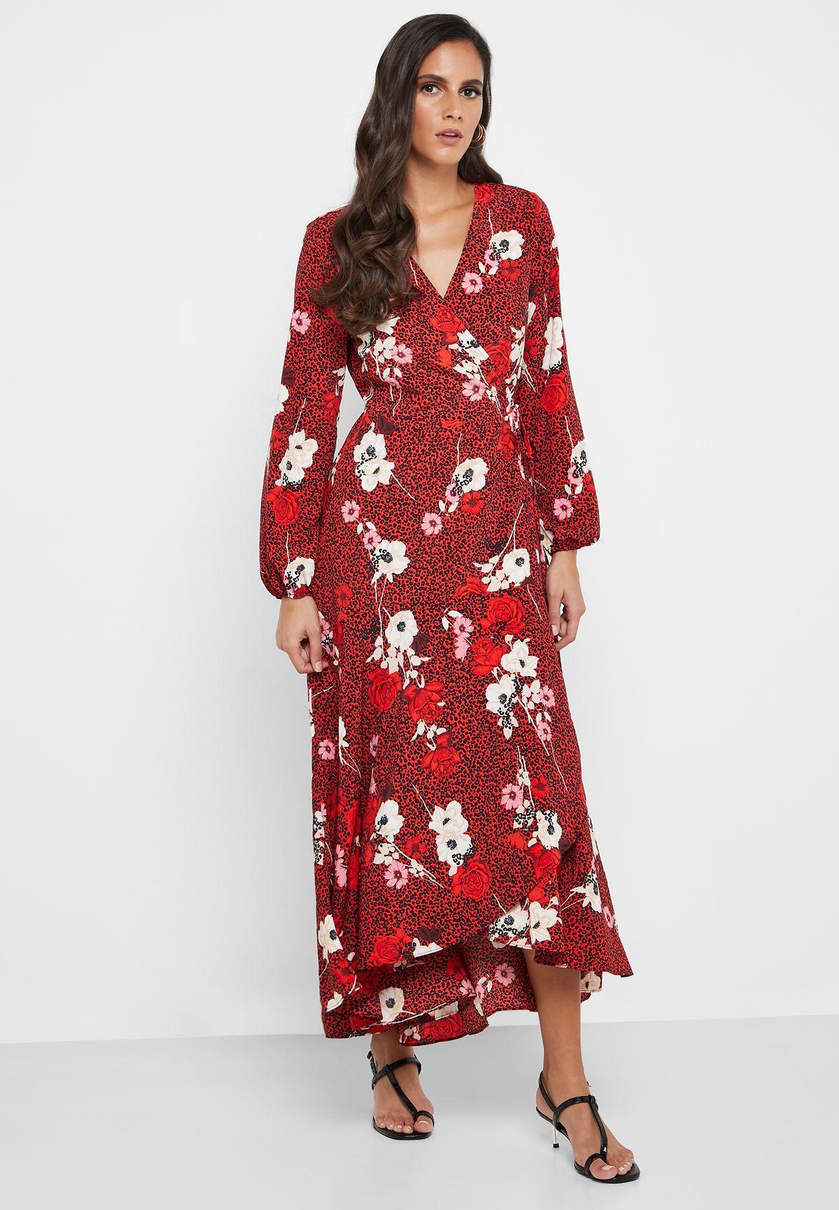 High Low Floral Print Dress