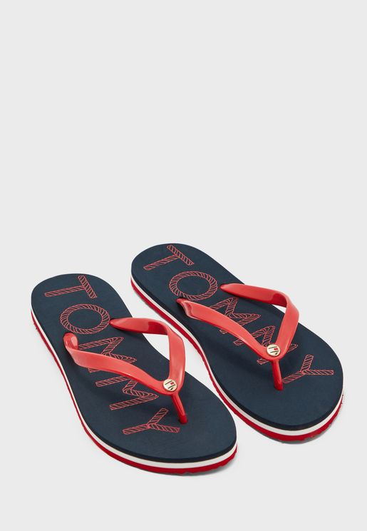 Tommy Footbed Flat Beach Flip Flop - 0KP