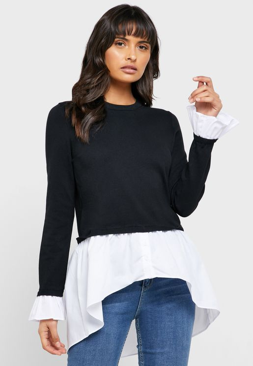 2 in 1 Peplum Sweater