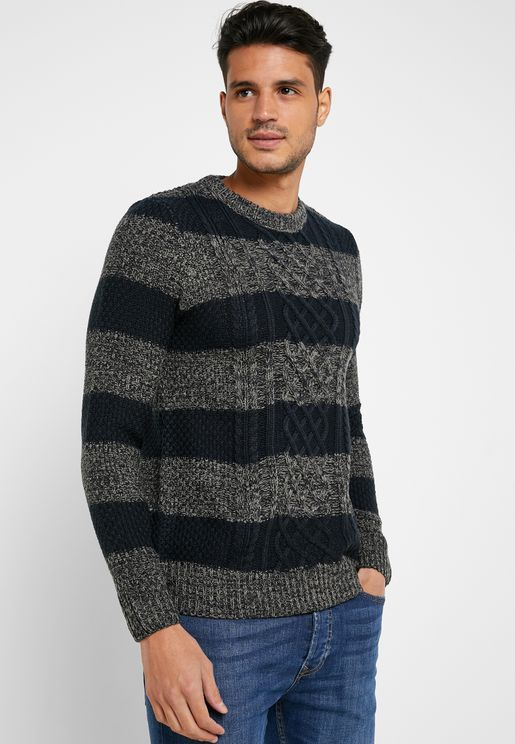 Textured Colourblock Sweater