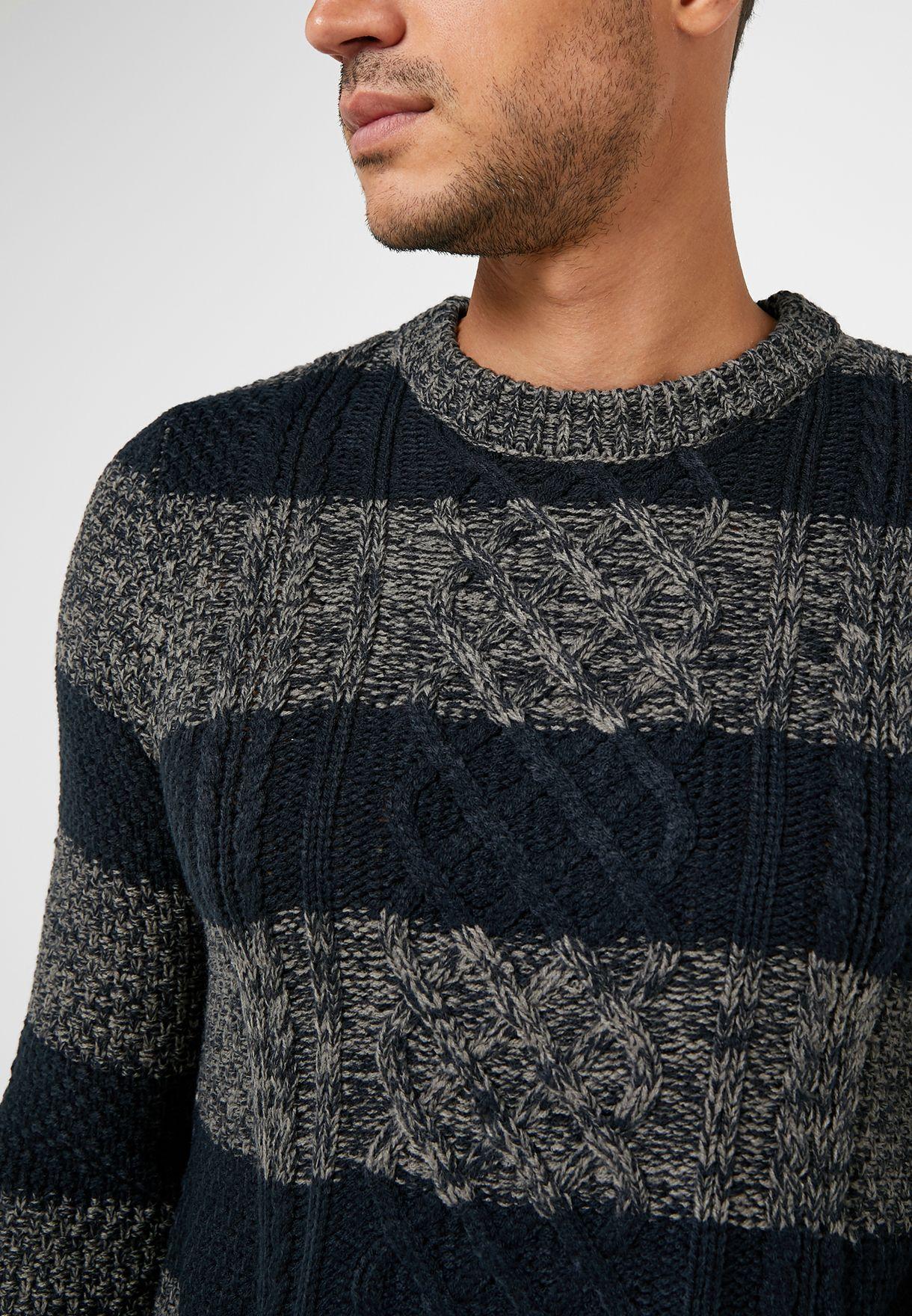 Textured Colourblock Sweater