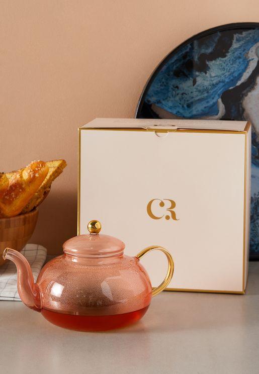 Pink Glass Teapot