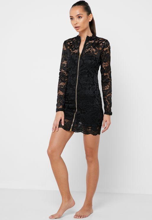 Zip Through Night Dress