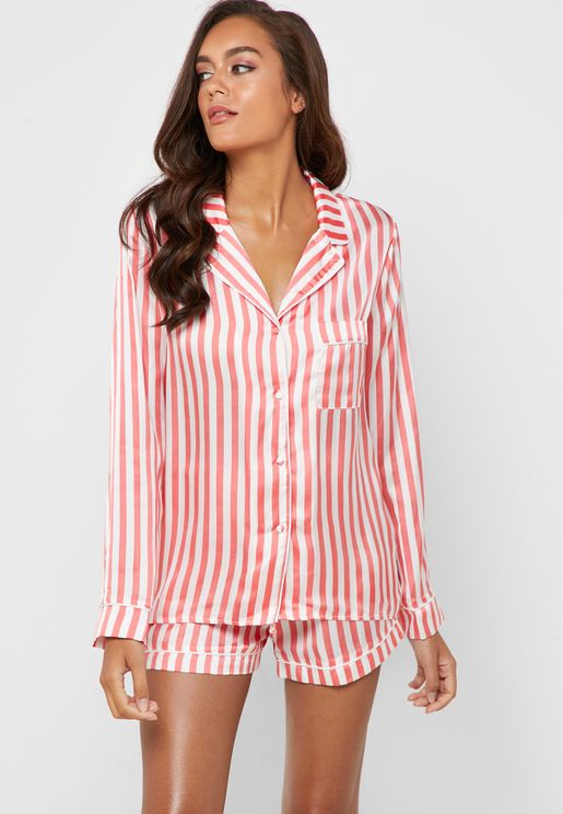 e4e64c38108a Striped Top   Short Pyjama Set