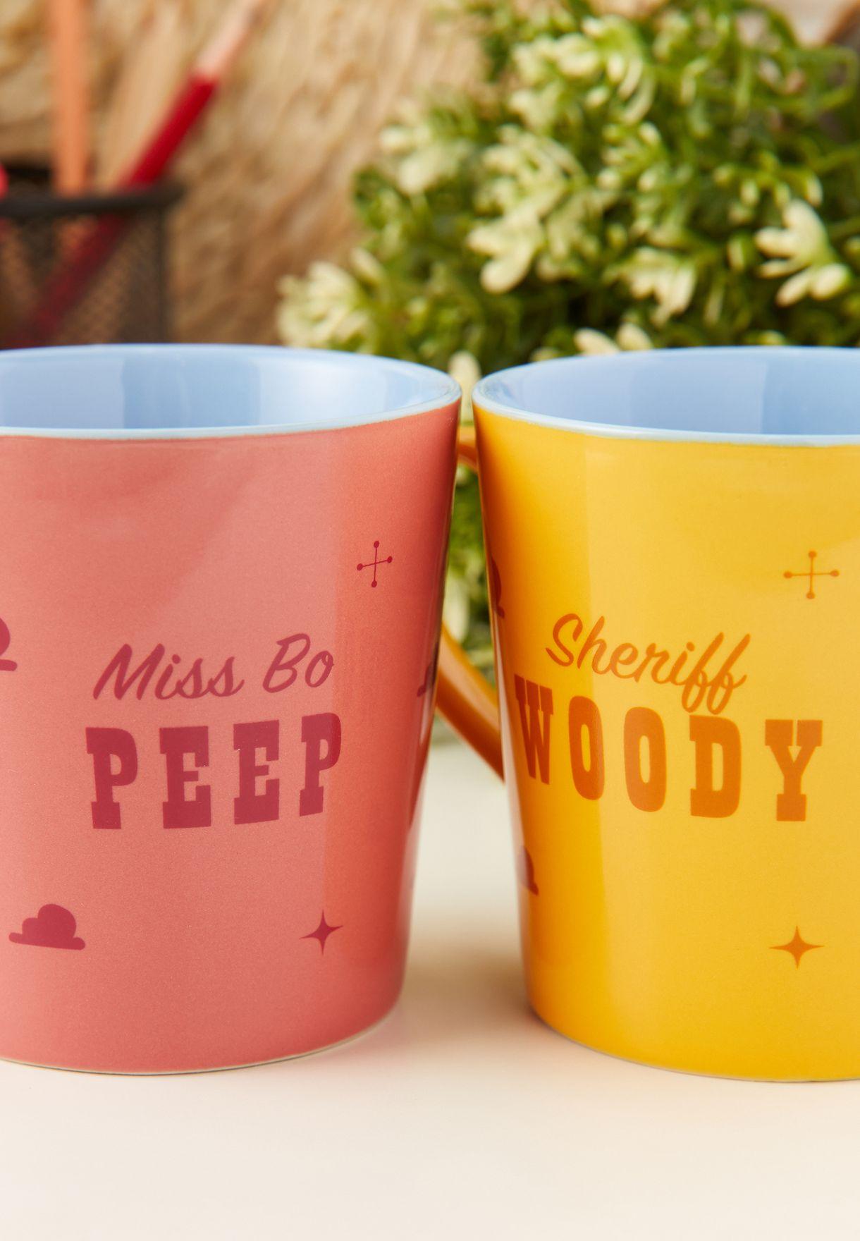 Toy Story Set Of 2 Woody & Bo Peep Mug