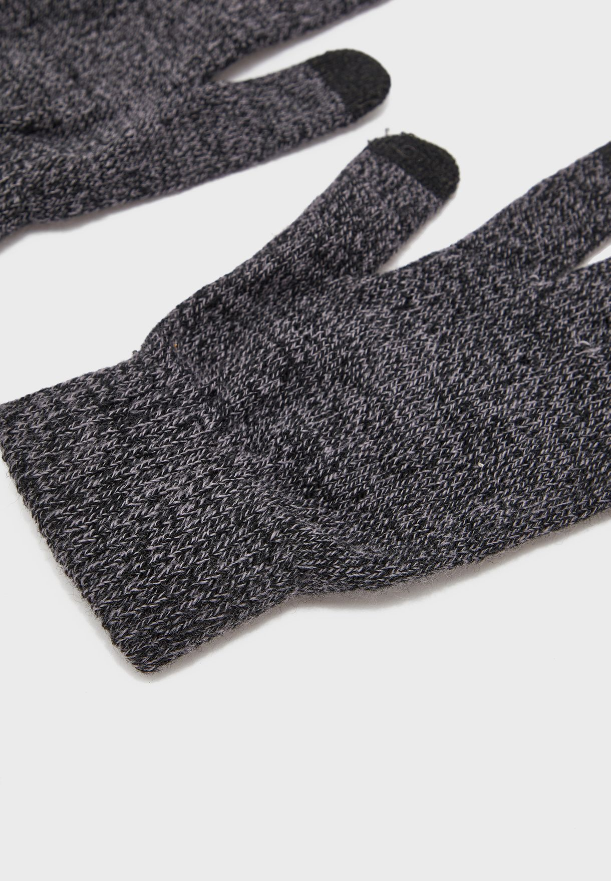 Bobble Hat And Touchscreen Glove Set