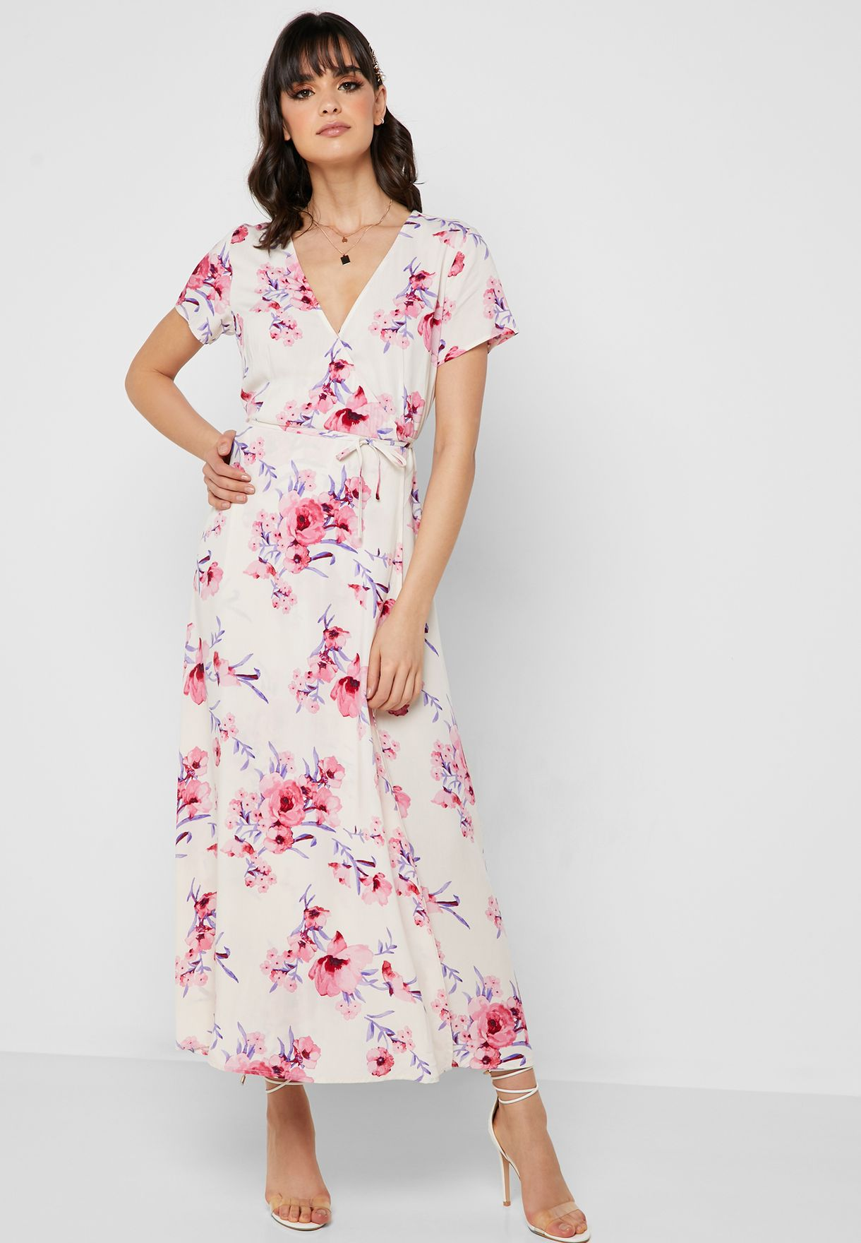 c5089d94be Shop Forever 21 prints Floral Print Wrap Dress 275615 for Women in ...