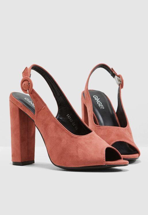 5658ae2b27c Vamp Peep Toe Sling Back Sandal