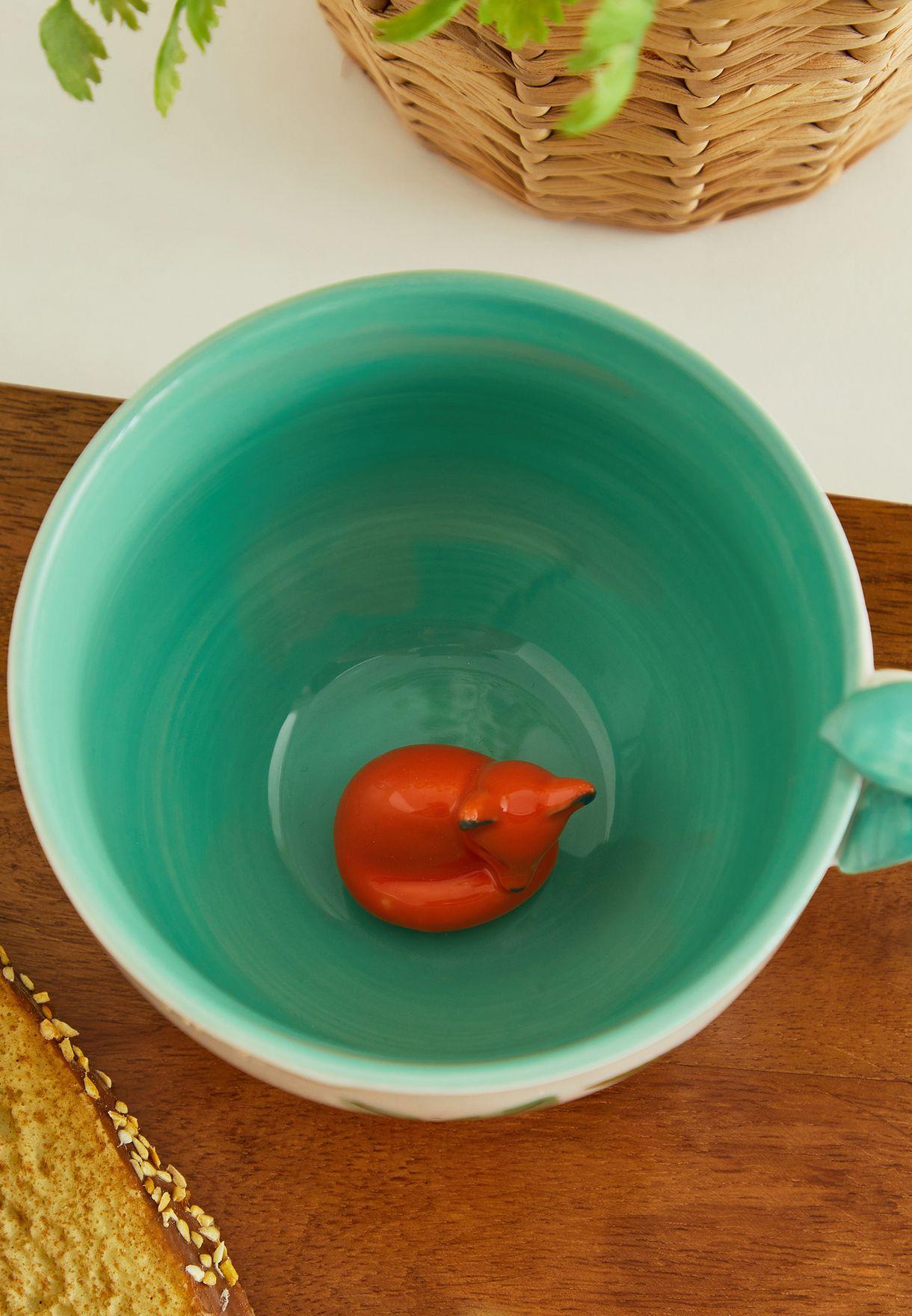 Secret Garden Fox Teacup With Gift Box