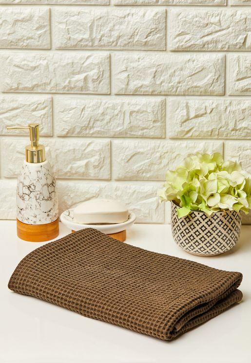 Small Cotton Waffle Thin Bath Towel