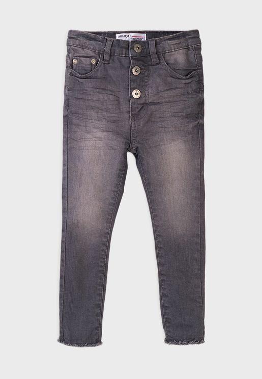 Kids High Waist Basic Super Skinny Jeans