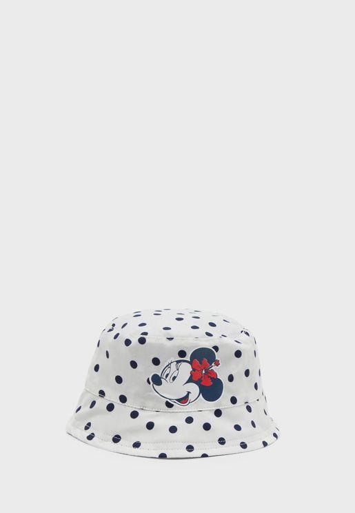 قبعة بحافة منحنية للبيبي