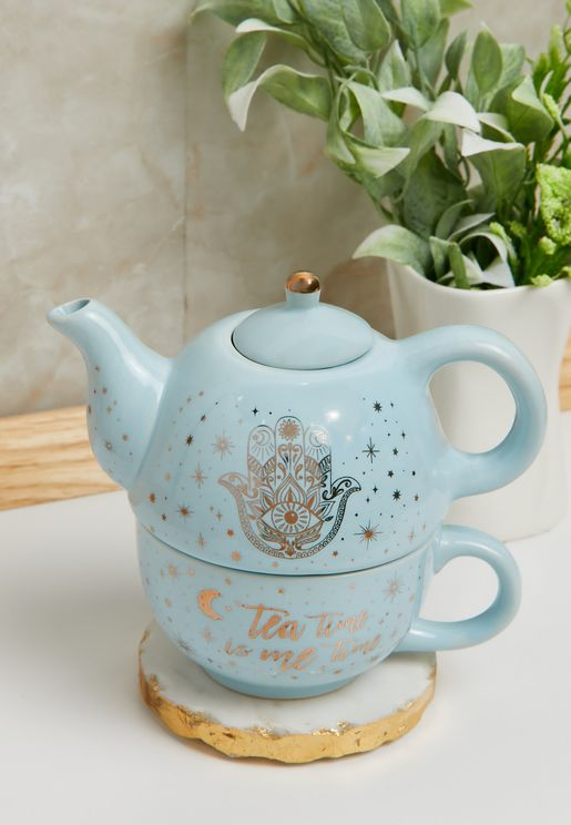 ابريق شاي وفنجان