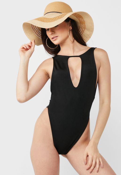 Keyhole Front Swim Suit