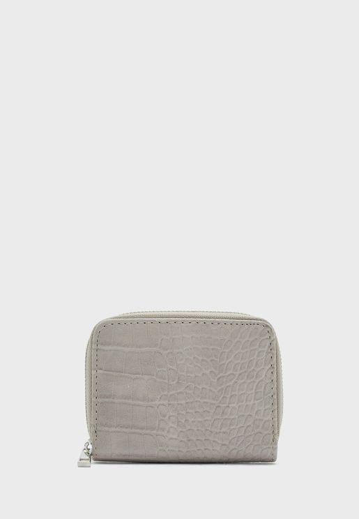 Croc Detail Multislot Cardholder