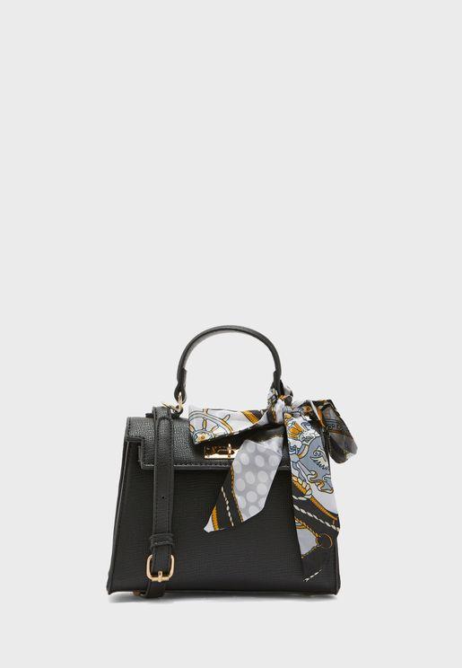 Scarf Tie Hangle Handbag