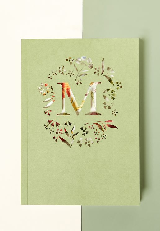 M-Initial Gardenia Monogram Journal