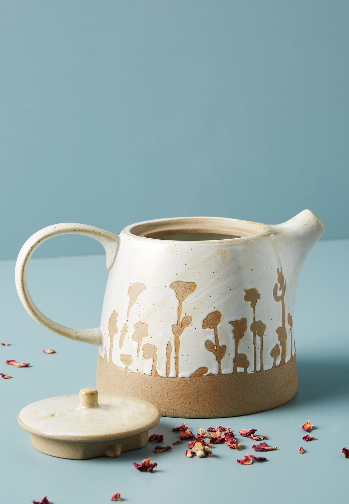 ابريق شاي بطباعة يدوية
