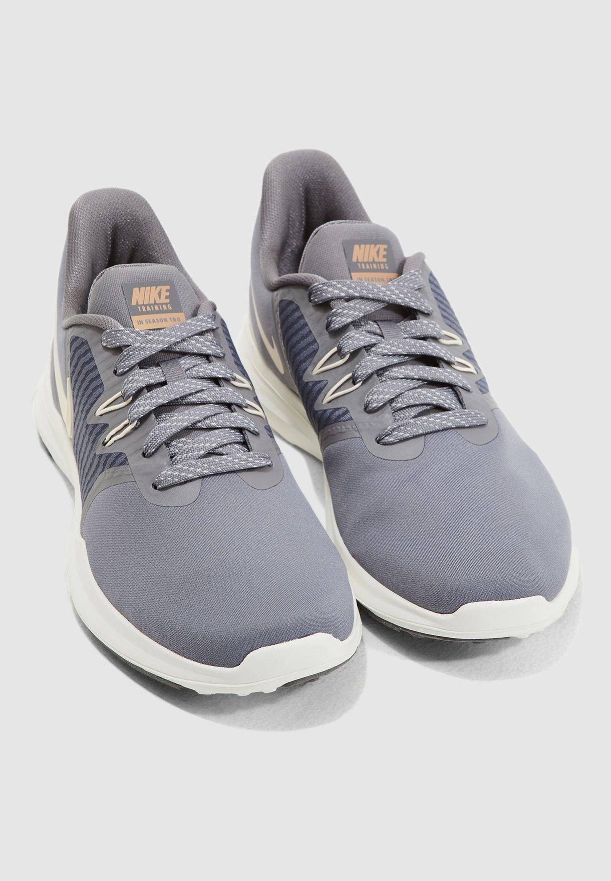 Buy Nike grey In-Season TR 8 AMP for