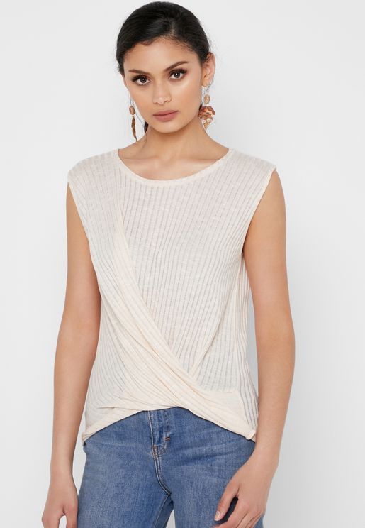 Twisted Ribbed Top