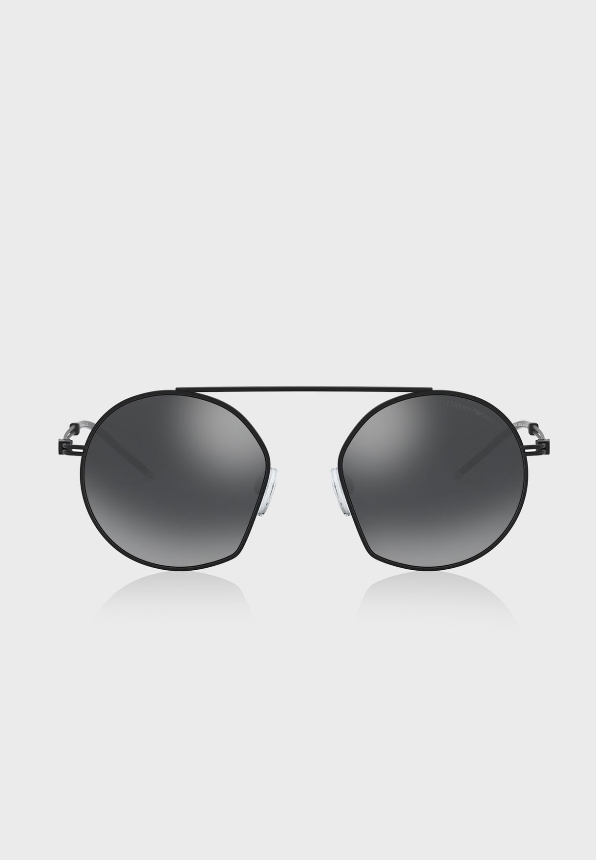 0EA2078 Top Bar Round Sunglasses