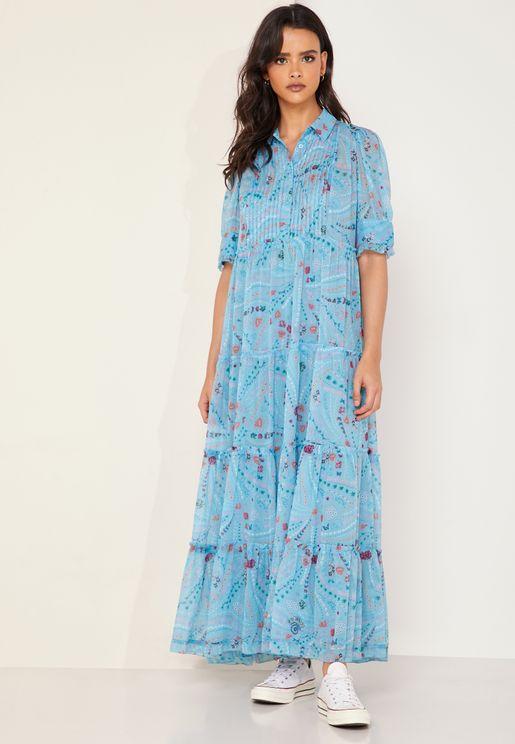 Rapidel Printed Maxi Dress