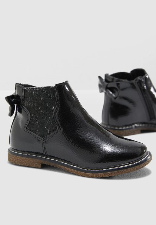 Kids Patent Leather Boots