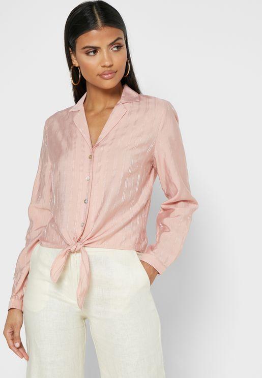 Front Tie Button Through Shirt