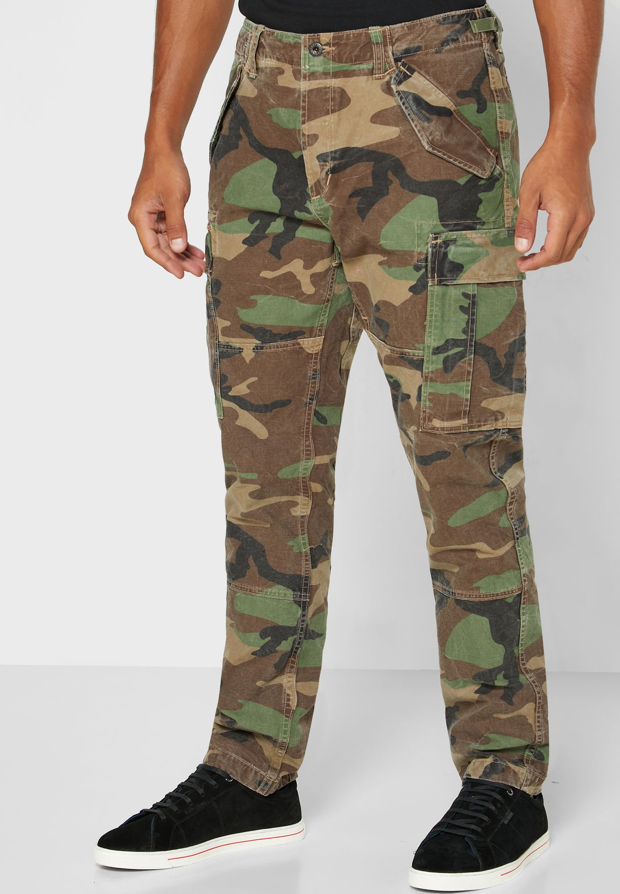 Camo Slim Fit Cargo Pants