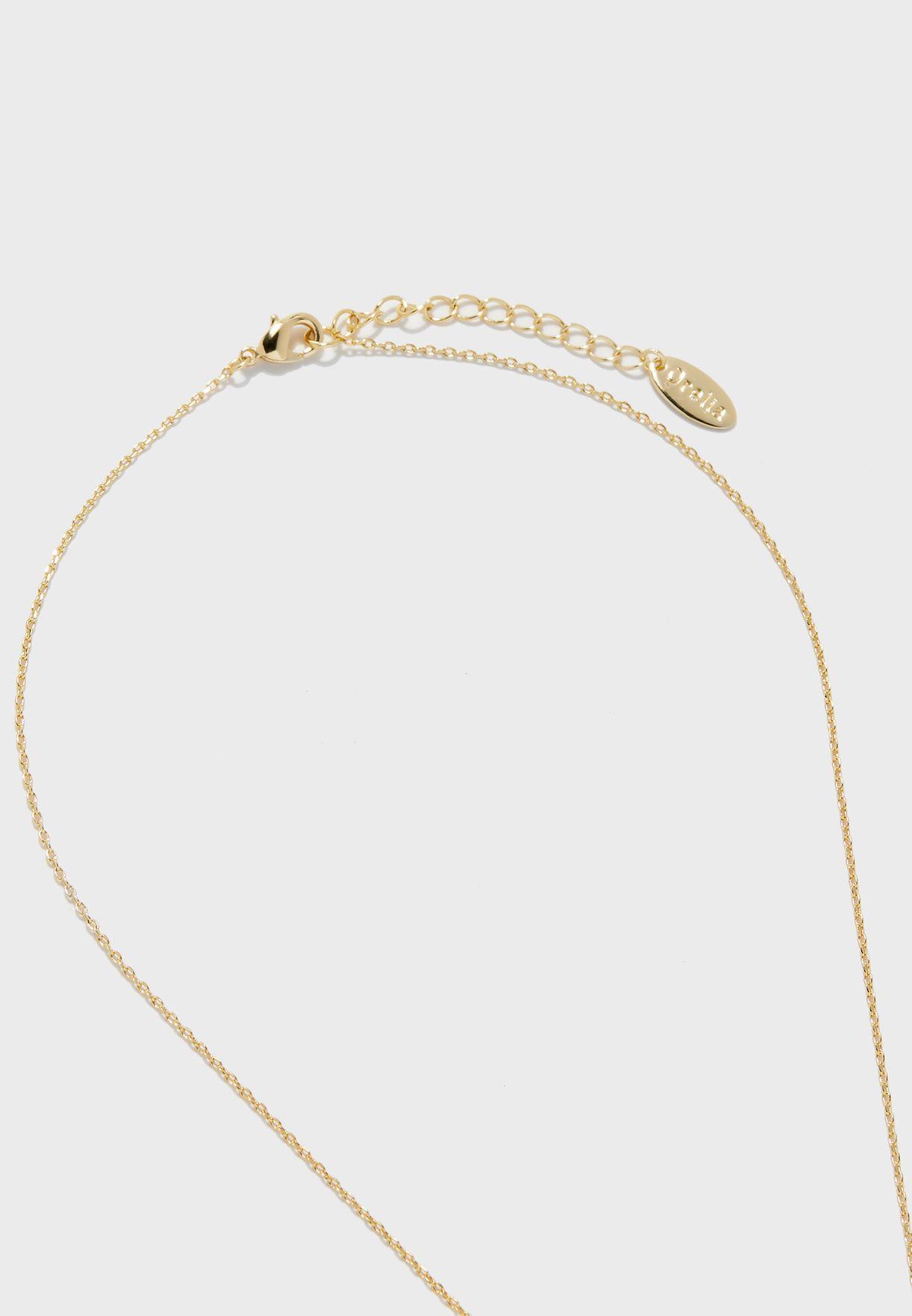 Initial D Mint Necklace