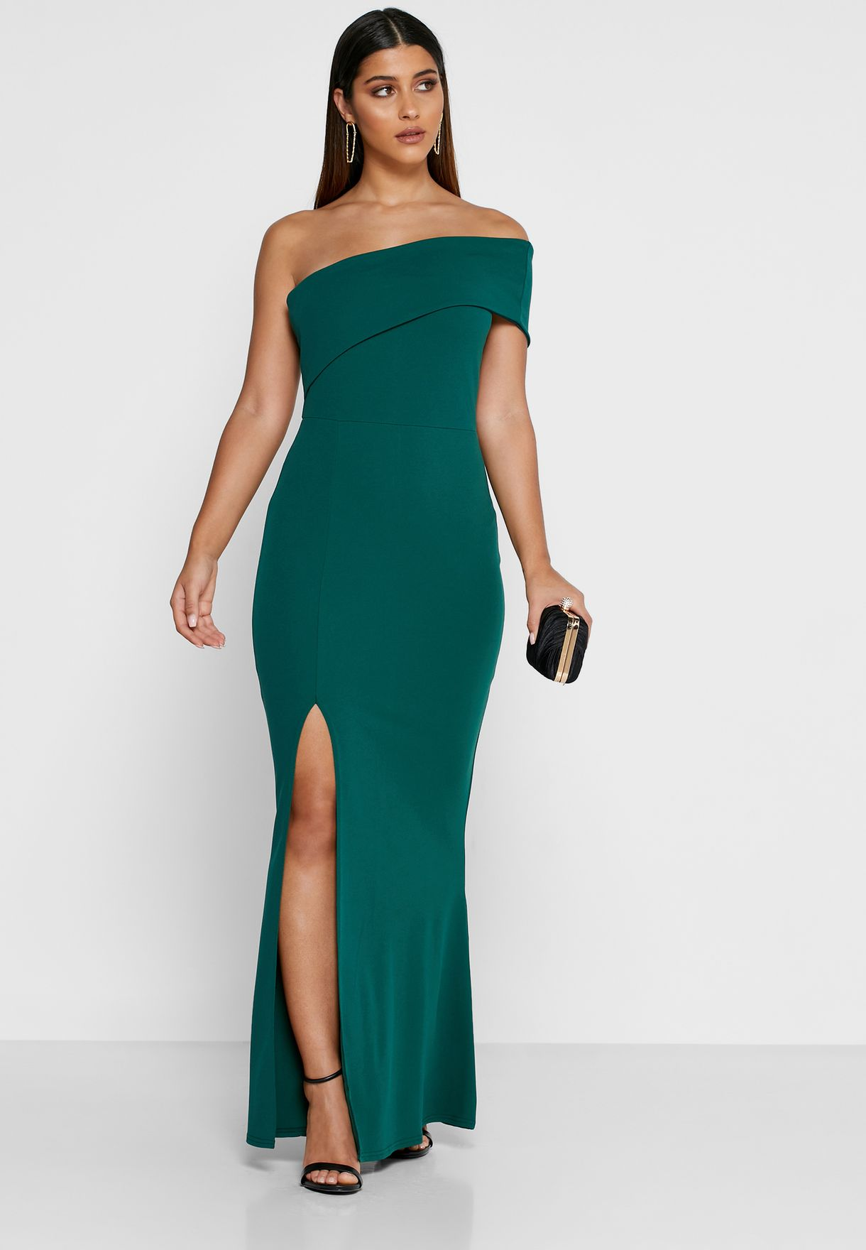 One Shoulder Maxi Dress